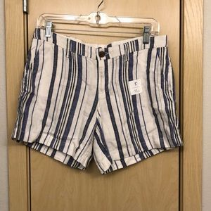 Blue and white striped shorts!